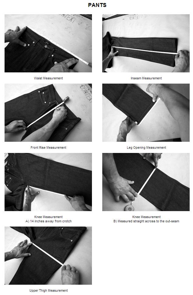 Pants Measurement Guide